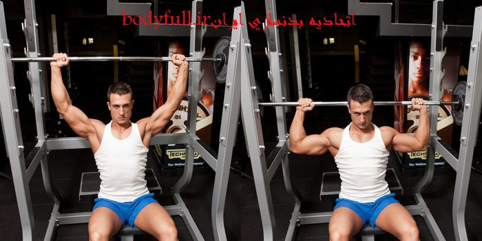 Seated-Barbell-Shoulder-Press-Behind-The-Neck