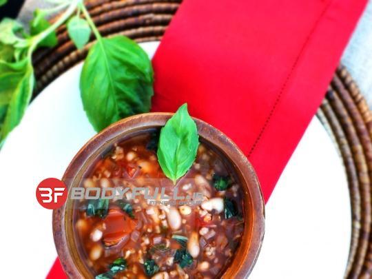 سوپ لوبیا سفید و سبزیجات