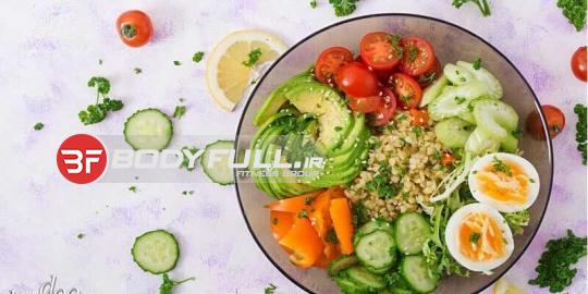 نمونه ای از رژیم غذایی برای روز سه شنبه