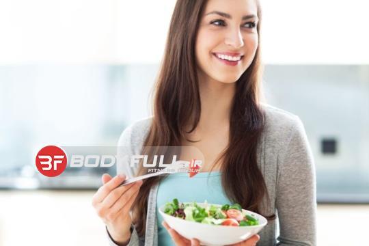 تغذیه خانم ها ی بدنساز