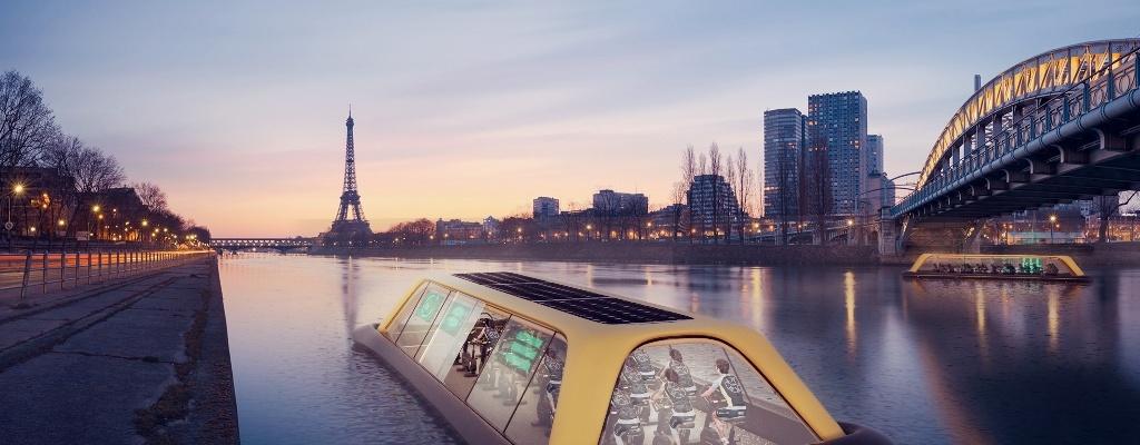 باشگاه قایقی بر روی رودخانه سن فرانسه