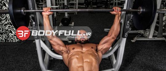 تمرین سینه درشیب منفی پرس و قفسه زیر سینه