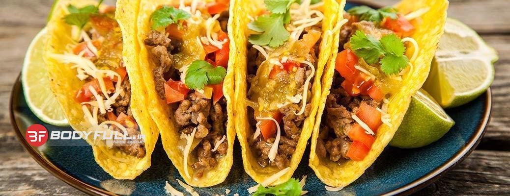 غذای مکزیکی پروتئینی