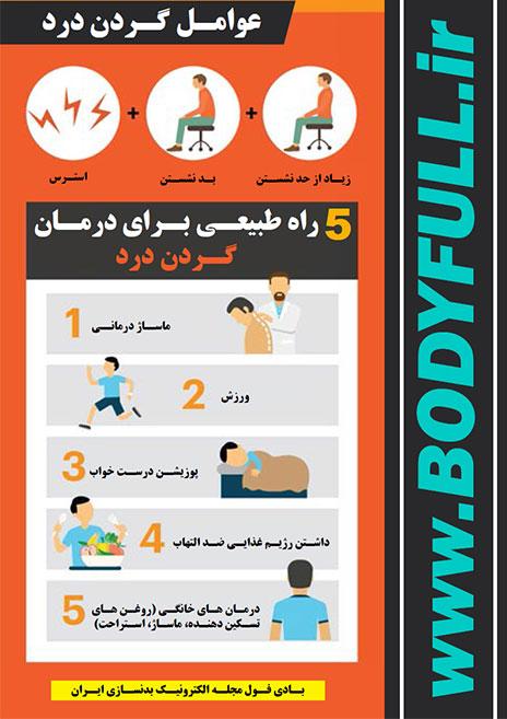 5 راه طبیعی برای درمان گردن درد