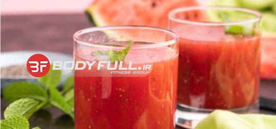 نوشیدنی گوجه فرنگی و هندوانه